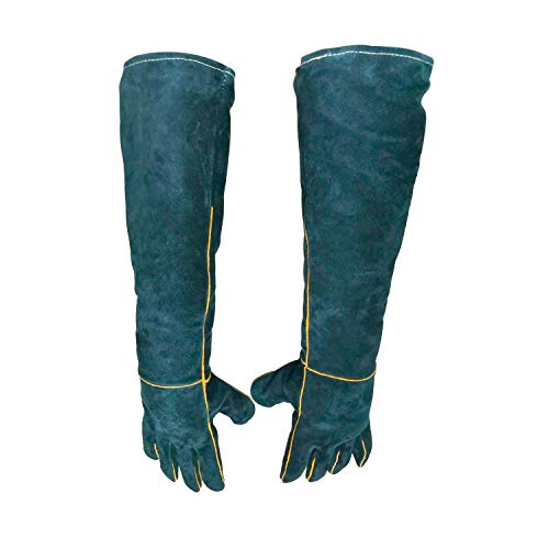 23.7 inch Animal Protection Gloves Anti-Bite & Scratch Handling Gloves for Dog Cat Bird Reptile Snake