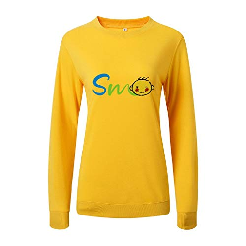 Lowest Prices! jin&Co Pullover Sweatshirts for Women 2019 Classic-Fit Long Sleeve O-Neck Printed C...