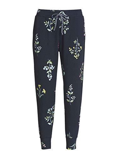 PiP Studio Damen Buiter Winter-Wonderland Schlafhose Pyjamahose Homewear Freizeithose, Grösse:M - 38, Farbe:Marine