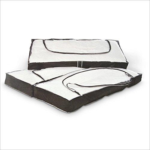 Set Custodie borse salvaspazio 3 pezzi 112 x 45 x 14 cm TOP in PVC trasparente, ideali per il cambio stagione