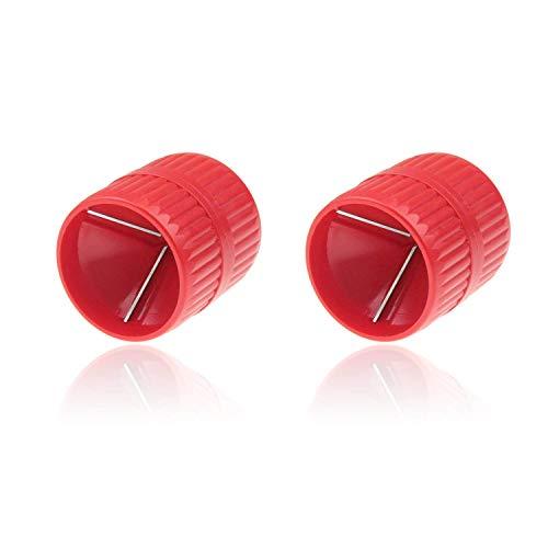 2 pcs Sbavatore Interno ed Esterno, Strumento di Sbavatura per Tubi, Alesatore Universale per Tubi da 5mm e 38 mm, Alesatore Interno e Esterno per Tubi in Rame
