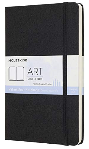 Moleskine Art Notebook, Hard Cover, Large (5' x 8.25') Plain/Blank, Black, 72 Pages