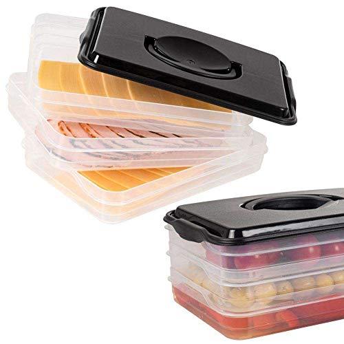 Vilde Aufbewahrungsbox Organizer Frischhaltedose für Wurstaufschnitt Käseaufschnitt 3-teilig