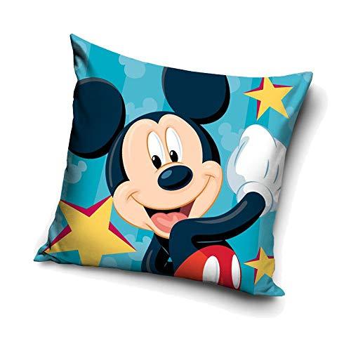 Carbotex Stars Mickey Mouse | Kinder Kissen 40 x 40 cm | Disney Micky Maus | Dekokissen