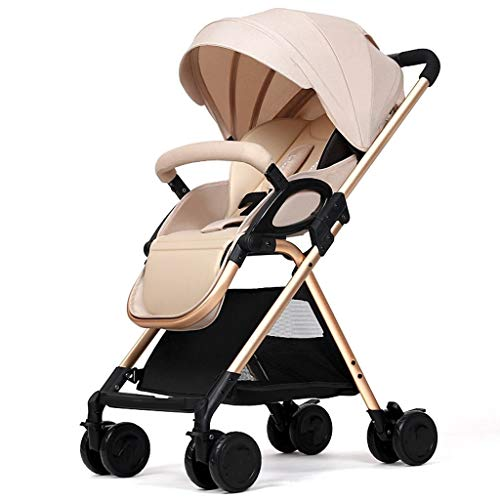 Amazing Deal HZC Baby Stroller, High View Aluminum Alloy Infant Pushchair with 5-Point Safety Harnes...