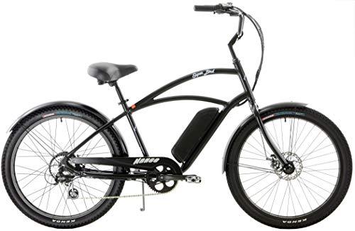 Quality Mango Superbird 8 Speed eBike Cruiser Aluminum 250w Electric Bicycle with Disc Brakes (Matt Black, Mens)