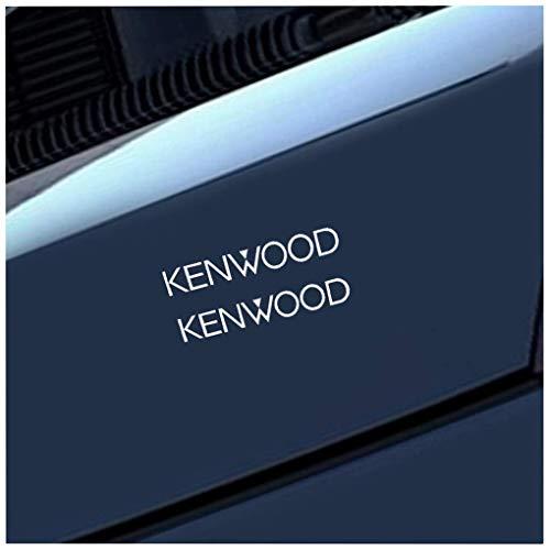 Pegatinas Adhesivas Para Coche 16Cm X 2.4Cm 2X Kenwood O Altavoces de ventana de coche Amplificador estéreo Parachoques Calcomanía Etiqueta de coche Jdm Car Styling