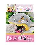 Zapf Creation 830055 BABY born Fahrradhelm- Glitzer-Puppenhelm in silber und gelb für 43cm Puppen mit rosa Kinnriemen