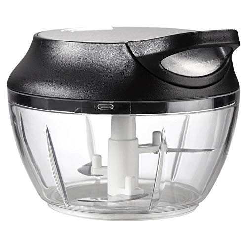 SODIAL Cuisine Coupe-LéGumes Multifonctionnel Batteur à Ail Hachoir Hachoir à Aliments Manuel Extracteur D'Ail