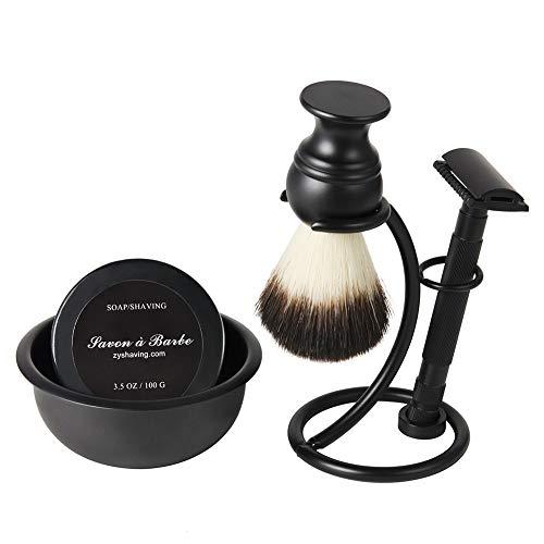 WOCTP Herren Rasierset Rasiermesser Dachs Haar Rasierpinsel Ständer Seife Und Schüssel Perfektes Geschenkset Für Männer