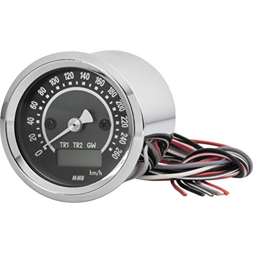 MMB Motorrad-Instrument Target Tacho elektronisch 48mm -260 Km/h chrom