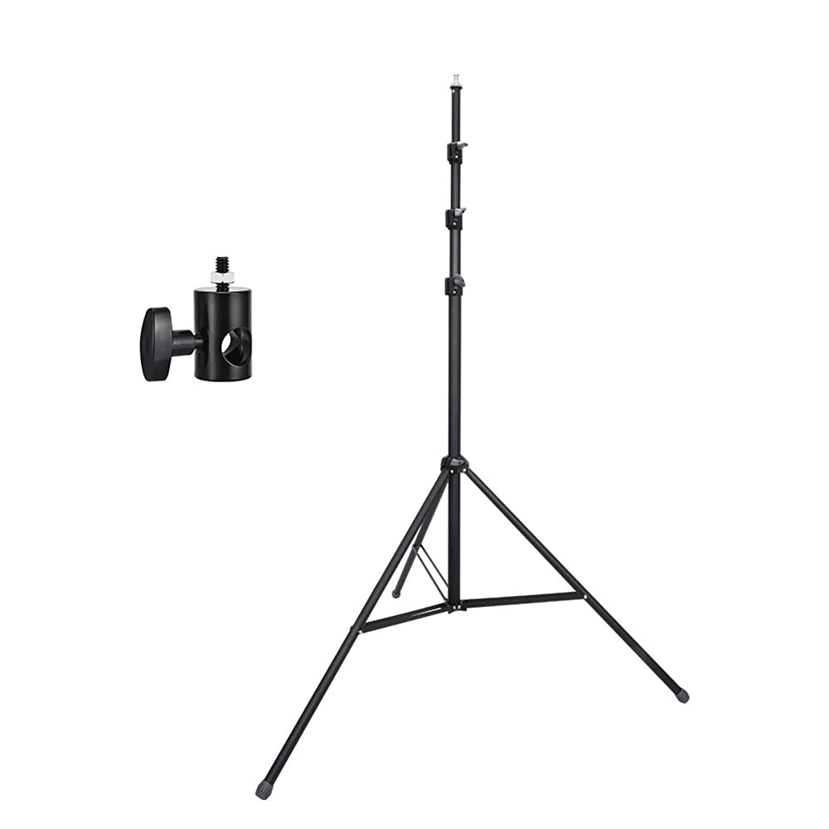 UTEBIT 12FT Light Stand with 1/4 Adapter Heavy Duty Softbox Stands High Adjustable 110cm-360cm Photo Stage Tripod Foldable 3.6M Frosted Material Lighting Stands Kit for Camera Video Photography Studio
