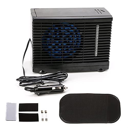 RURUZI Refrigerador de coche ajustable 12 V coche aire acondicionado refrigerador ventilador de refrigeración agua hielo evaporativo coche refrigerador mini