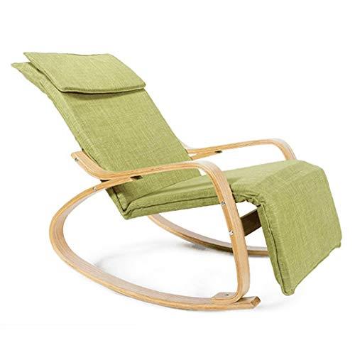 bureaustoelen bureaustoel lunch pauze stoel massief hout schommelstoel lounge stoel prachtige praktische groene oude man ligstoel balkon schommelstoel