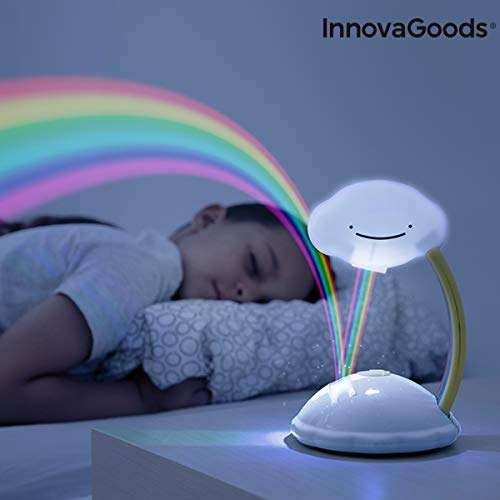 InnovaGoods Proyector LED Nube Arcoíris Libow, Blanco