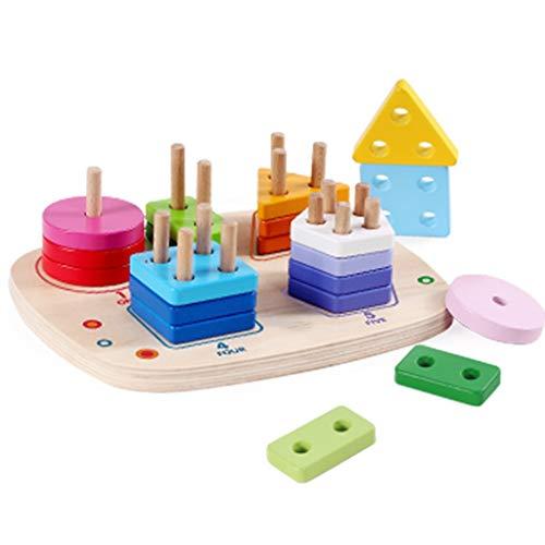 Great Deal! ERDFCV Building Blocks Teaching Aids + Toys,Children's Geometric Shape Matching Bricks...