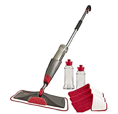 Rubbermaid Reveal Spray Microfiber Floor Mop Cleaning Kit for Laminate & Hardwood Floors, Spray Mop with Reusable Washable Pads, Commercial Mop from Rubbermaid