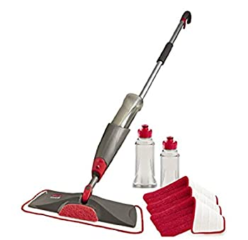 Rubbermaid Reveal Spray Microfiber Floor Mop Cleaning Kit for Laminate & Hardwood Floors Spray Mop with Reusable Washable Pads Commercial Mop