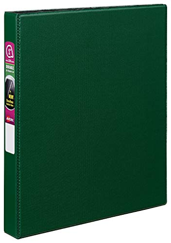 """Avery 27253 Durable Binder with Slant Rings, 11 x 8 1/2, 1"""", Green"""