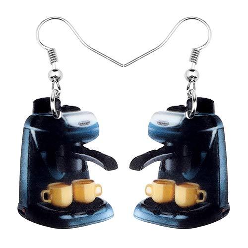 AdronQ® Acryl Kaffeemaschine Ohrringe Tropfen baumeln niedlichen Modeschmuck für Frauen Mädchen Teenager Geschenk Charms Dekoration