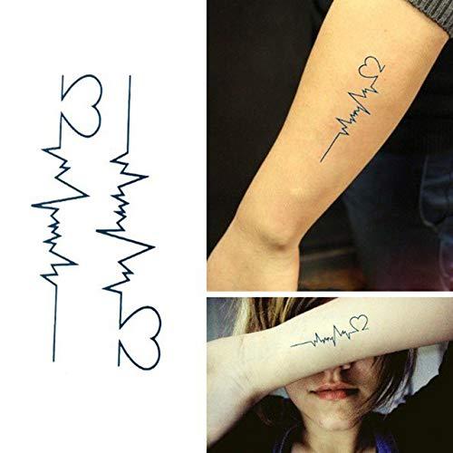 1 pc Étanche Autocollant De Tatouage Body Art Tatouage Transfert d'eau Plume Note De Musique Croix Code À Barres Autocollant De Tatouage Temporaire -, Plume