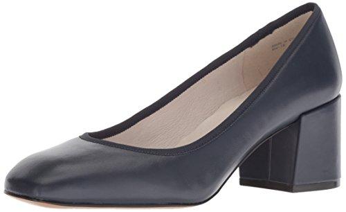 Kenneth Cole New York Women's Eryn Low Heel Square Toe Dress Pump, Navy Leather, 8.5 M US