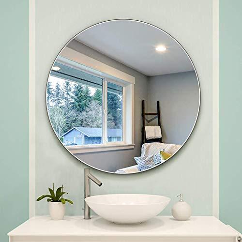 LZLYER Espejo Escritorio Espejo Tocador Baño Colgante de Pared Decoración Beauty S, Pared, Redondo para Entradas, Baños, Salas de Estar Y Más,70Cm