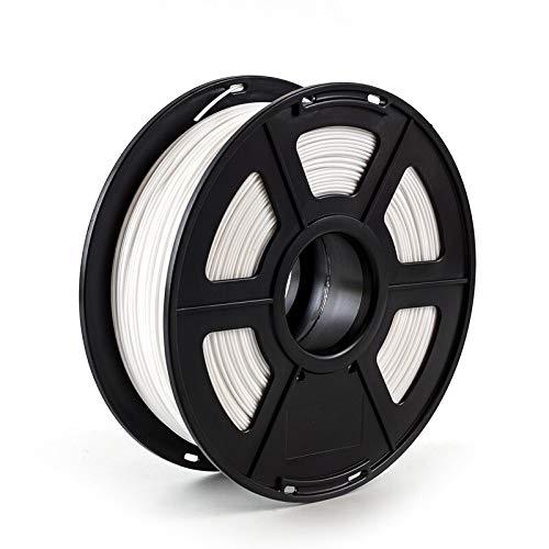 NLLeZ Filamento de Impresora 3D 1.75mm 1kg / 2.2lbs PLA PETG TPU Nylon Fibra de Carbono conductora ABS PC Pom ASA Madera Hips PVA Filamento de plástico (Color : PETG White)