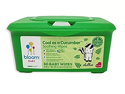 Baby Wipes by bloom BABY | For Sensitive Skin|Formulated for Diaper Area | Water-Based|Infused with Plant-Derived Vitamins | Hypoallergenic|Textured & Thick