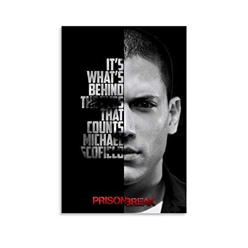 CHAOZHE Michael Scofield Classic TV Series Prison Break Main Role Poster decorativo su tela da parete per soggiorno, camera da letto, 40 x 60 cm