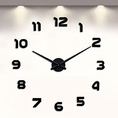 LightInTheBox Digital Wall Clock Acrylic Stickers Quartz Clock for Indoor Kitchen of Large Number Battery Operated