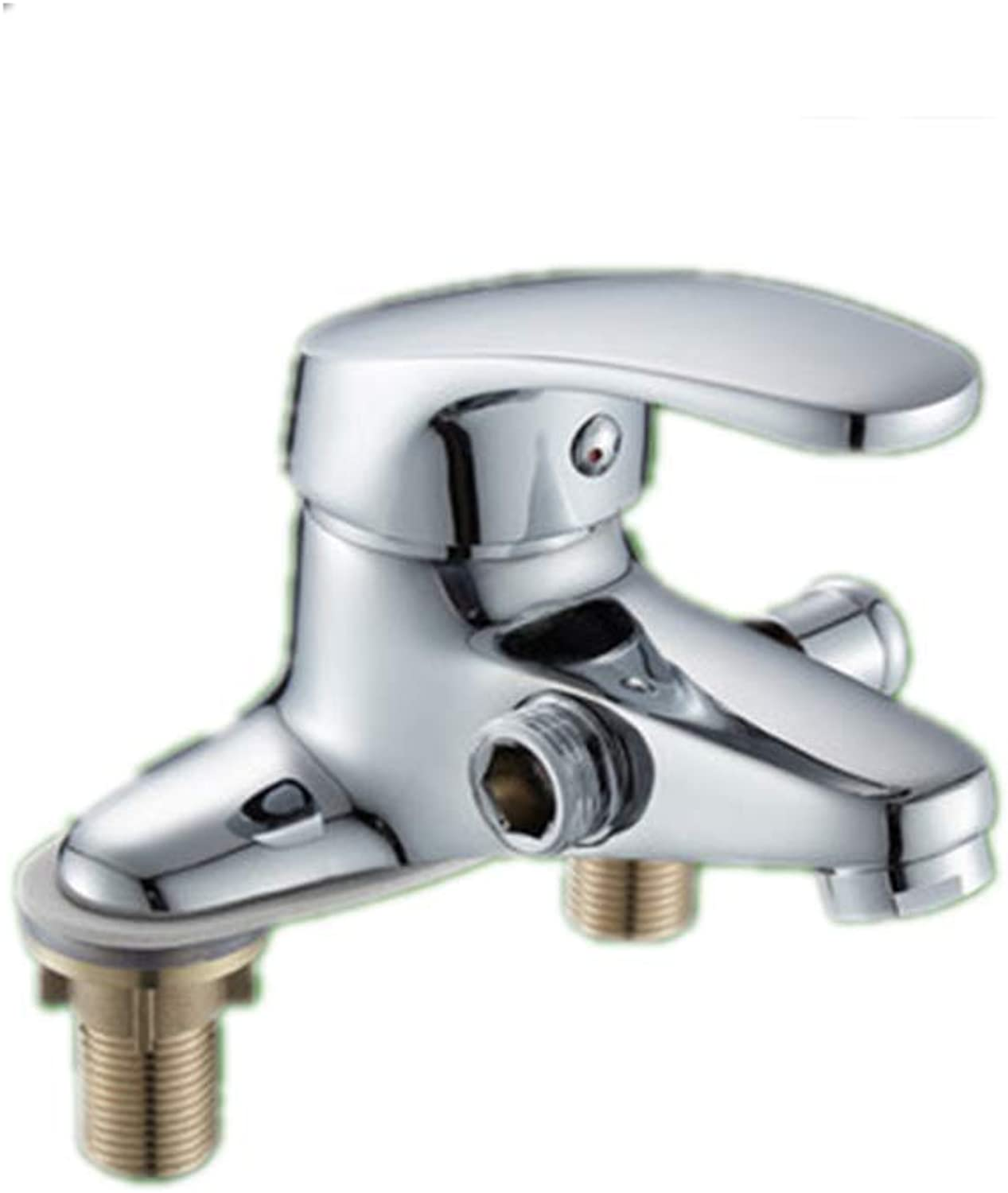 Lhxasd Copper core Double-Hole Basin hot and Cold wash Hand face Faucet Multi-Purpose Basin, A Section