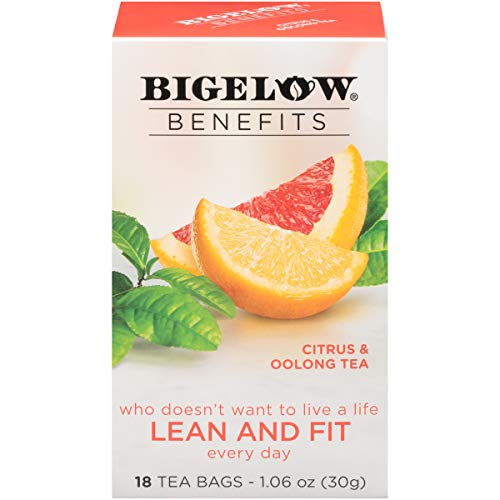 Bigelow Benefits Lean and Fit Citrus & Oolong Tea Bags, 18 Count Box (Pack of 6), Caffeinated 108 Tea Bags Total