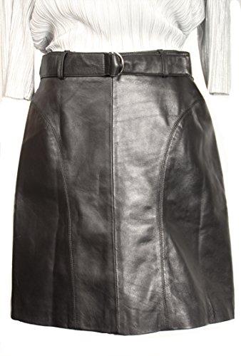Lederrock aus ECHT-Leder in A-Linie/A-Style (XXL)