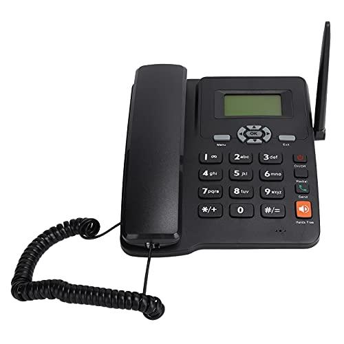Kudoo Teléfono con Cable, Teléfono De Sobremesa gsm con Antena Externa, Teclas Grandes, Reducción Ruido, Manos Libres, Identificación De Llamadas, Montable En Pared