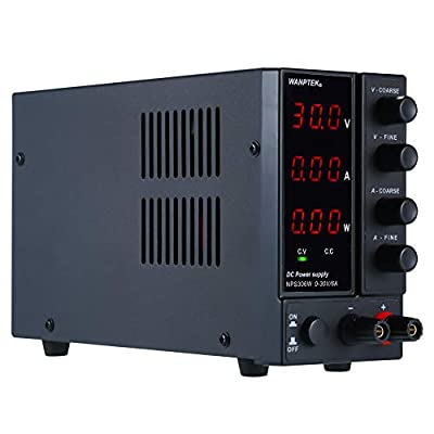 KKmoon DC Power Supply, NPS1203W 0-120V 0-3A Switching DC Power Supply 3 Digits Display LED High Precision Adjustable Mini Power Supply AC 115V/230V 50/60Hz Voltage & Current Regulated Dual Output