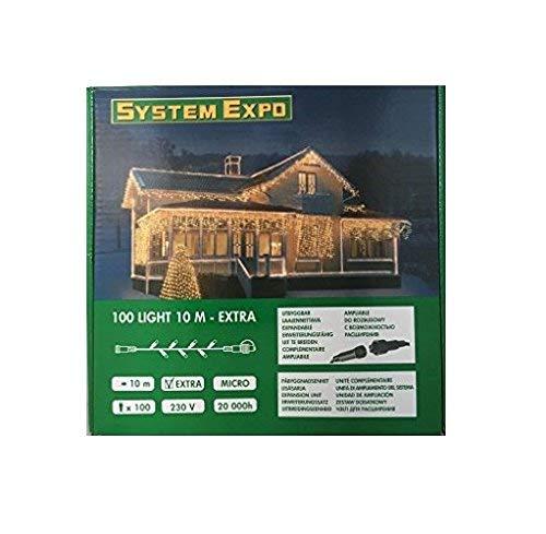 System Expo 484-12 Lights mit 100 Birnchen 1000 cm Extra, weiß