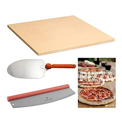 Make Pizza at Home Bundle - All the Tools You Need to Make and Serve (Recipes included) (4 Items)