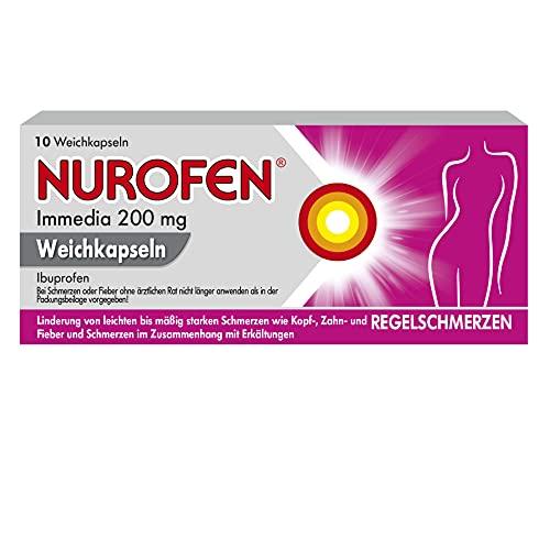 Nurofen Immedia Weichkapseln bei Regelschmerzen ab 6 Jahren 200mg, 10 St. Tabletten