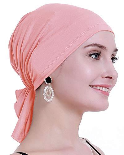 osvyo Pañuelo de bambú Chemo para la pérdida de cabello de las mujeres - Cáncer Slip On Headwear Turbans Gorras Sellado Embalaje