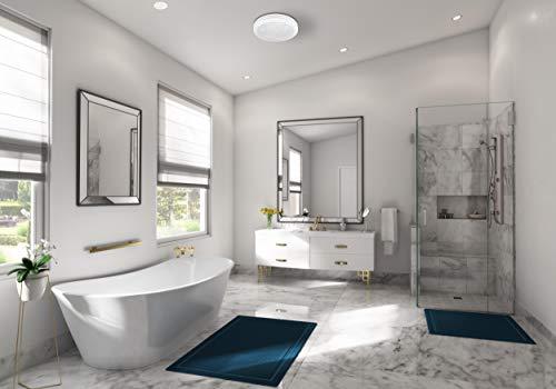 Hunter 90052 Saturn Decorative Bathroom Ventilation Fan with Light, Satin White