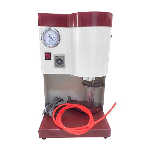 TECHTONGDA Lab Vacuum Mixer Dental Vacuum Mixer Built-in Vacuum Pump Table Type Mixing Machine Blender