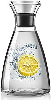 Artcome 55 Oz Heat Resistant Borosilicate Water Carafe Glass Pitcher