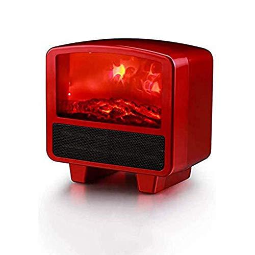 HLDUYIN Calefactor Eléctrico Calefactor Cerámico Portátil 800W Ajuste De 3 Engranajes con Oscilación Automática, Protección contra Sobrecalentamiento Y Volcado, para Hogar Y Oficina,Rojo