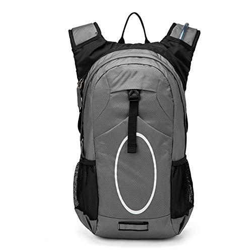 Paquete de mochila ligera de hidratación con vejiga de agua 2L para deportes al aire libre, ciclismo, senderismo, esquí, equitación de motocicletas [2021 nueva combinación] ( Color : Gray )