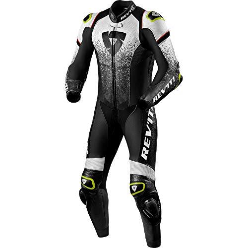 Revit Quantum 1-Teiler Motorrad Lederkombi Schwarz/Weiß 48