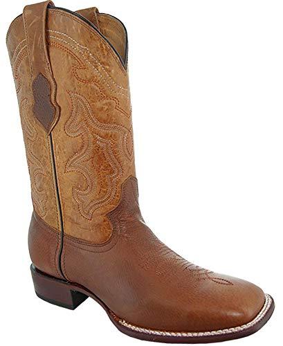 Soto Boots H9001 Herren Cowboystiefel mit breiter Spitze, Braun (hautfarben), 43 EU