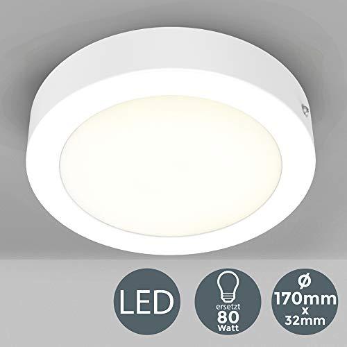 Deckenleuchte inkl. 12W 900lm LED Platine ersetzt 80W Glühbirne Ø170mm LED Aufbauleuchte, Aufputzleuchte, Deckenlampe 3000K Warmweiß für Innenräume