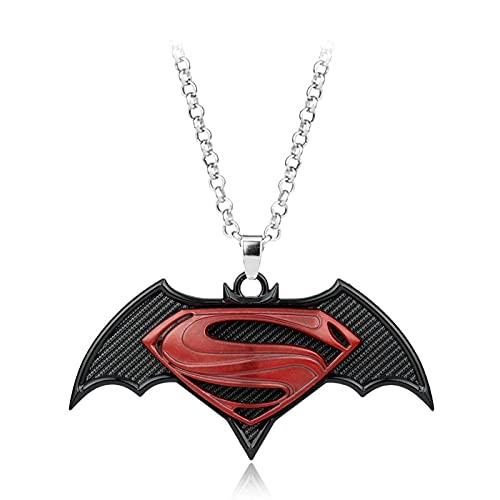 Películas De Cine Y Televisión Europeas Y Americanas Personalidad Creativa Accesorios Periféricos Batman Vs Superman Logo Colgante Collar Joyería Para Hombres