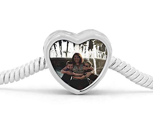 photo charm, pandora bracelet charm, fits pandora, personlised charm